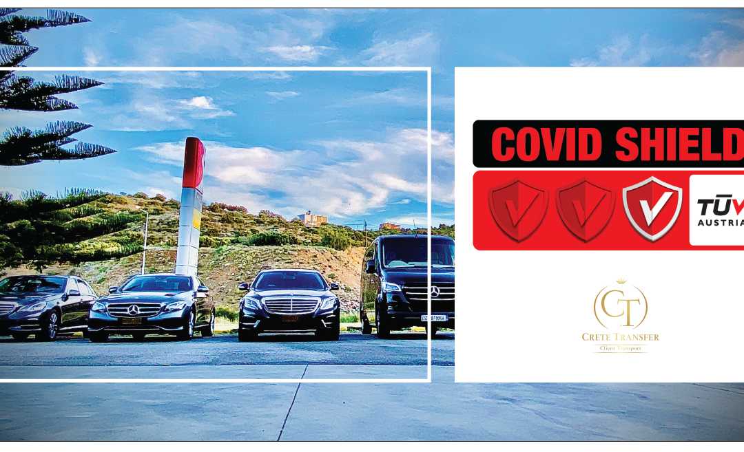 """Η CRETE CLIENTS TRANSFER, αποδεικνύοντας την προσήλωσή της στην ασφάλεια των εργαζομένων και των πελατών της, πιστοποιήθηκε με το Ιδιωτικό Σχήμα Πιστοποίησης TÜV AUSTRIA CoVid Shield, στο επίπεδο """"Principal""""!"""