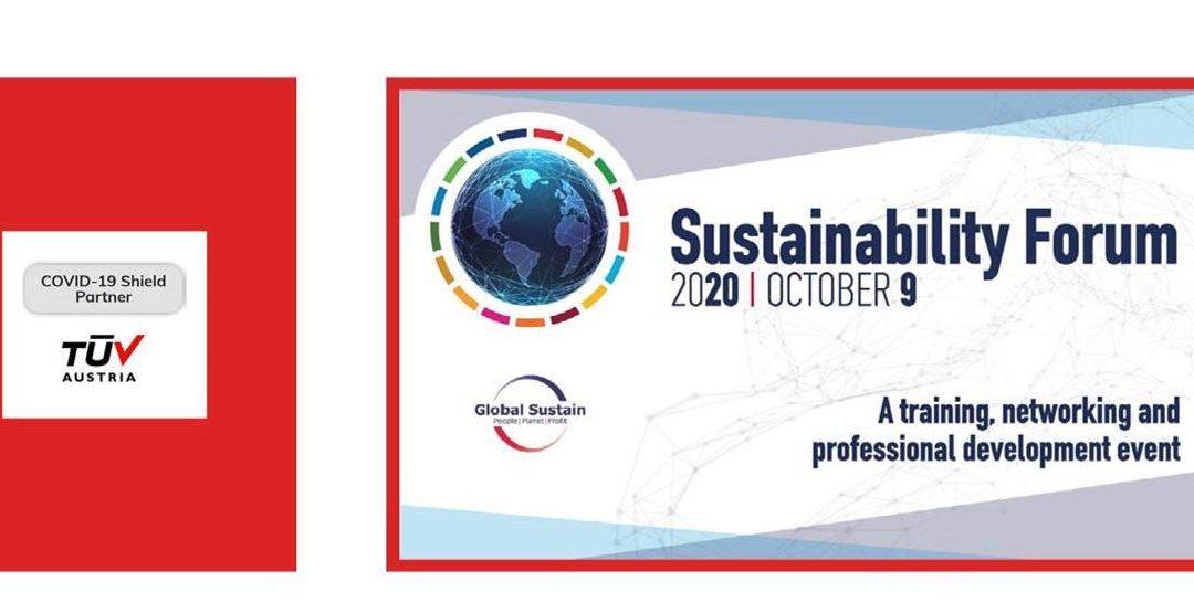 Η TÜV AUSTRIA θα συμμετέχει στο φετινό Sustainability Forumως CoVid-19 Shield Partner