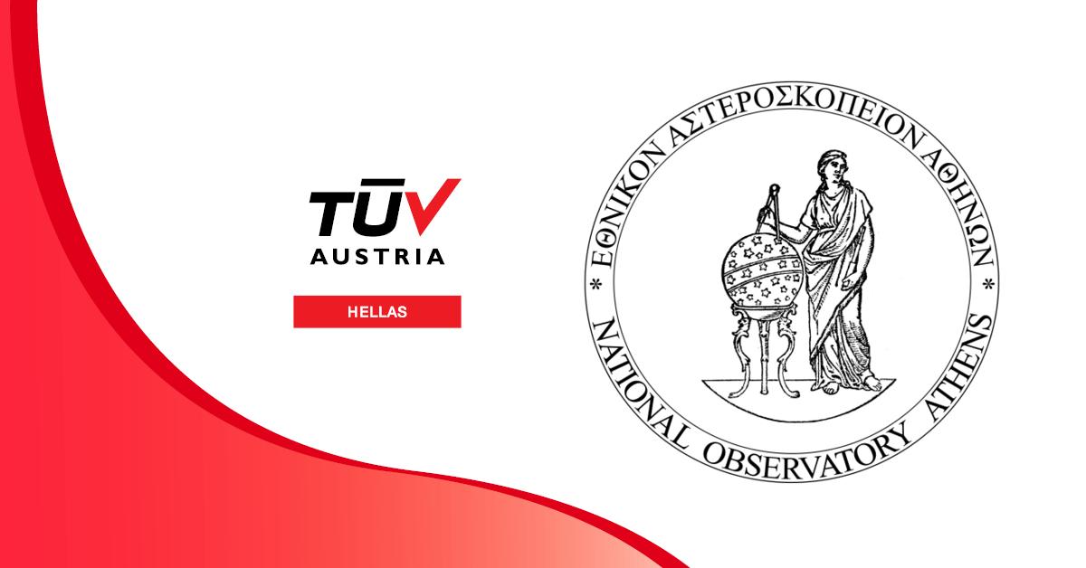Πιστοποιήθηκε η μονάδα Οικονομικής Διοικητικής Υποστήριξης Ειδικού Λογαριασμού Κονδυλίων Έρευνας του Εθνικού Αστεροσκοπείου Αθηνών, σύμφωνα με το πρότυπο ISO 9001:2015